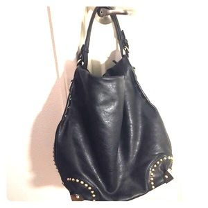 Handbags - Black Purse with Studs